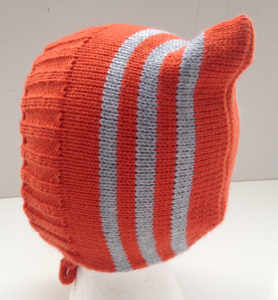 6-24 months - Baby Toddler Orange Acrylic Striped Pixie Hat
