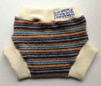 Medium Autumn Striped Recycled Wool Soaker