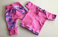 Butterfly Jecaloones Shirt and Pant Set- Mini - 3-12 months