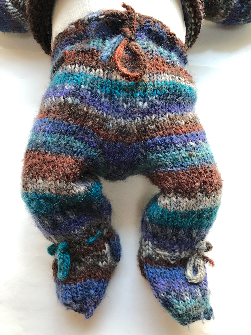 0-3+ months - Hand Knit Wool Footies