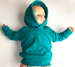 0- 3 Months+ or 2/3T+  Green Wool Jersey Hoodie