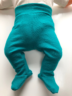 0-3 Months Newborn Wool Jersey Footies Longies