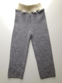 12- 18+ months - Grey Recycled Cashmere Longies Pants - Large