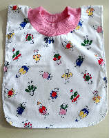 Little Flower People Pull On Cotton Bib