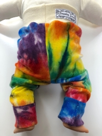 6-18+ months - Rainbow Tie dye Longies Leggings - Medium Slim fit.