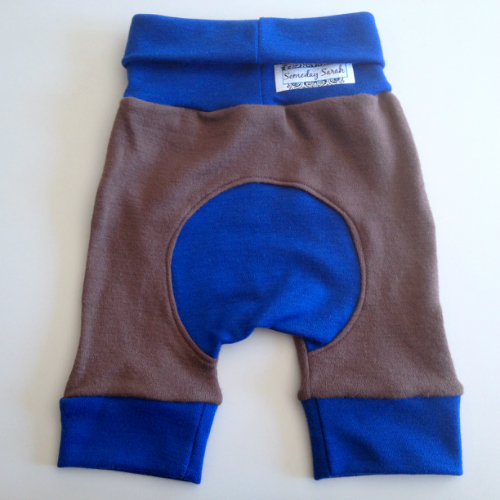 Woolly Blue and Brown Interlock Jecaloones Shorties