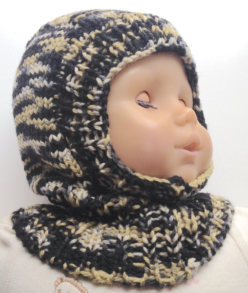 0-9 months - Wool Balaclava - Baby Hat