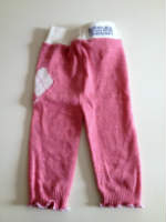 Medium Pink Recycled  Longies with Interlock Waistband