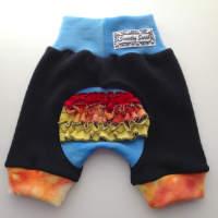 Blue Rainbow Woolly Ruffle Butt Jecaloones Shorts/Bloomers - mini