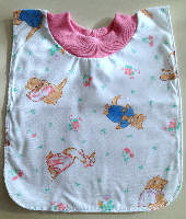 Mother Goose Pull On Cotton Bib