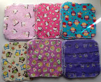 Cute print Soft flannel cloths backed with cotton sherpa