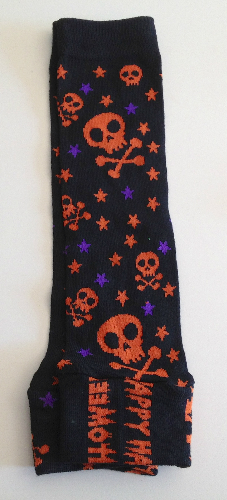 Sale - Halloween Up-cycled Leg or Arm Warmers