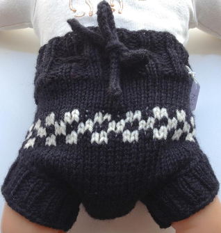 3-9 months - Diaper Cover Wool - Black Checkered Small-medium Baby Handknit Wool Soaker