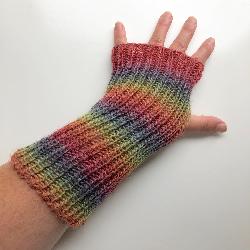 Rainbow Fingerless Gloves Armer Warmers