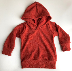 6-12+ months or 2-3T - Rust Orange Wool Jersey Hoodie