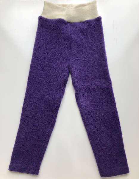 9-18+ months - Purple Up-cycled Lambswool Longies