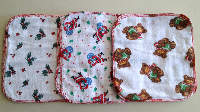 3/4 sized Holiday Unpaper towels or Napkins