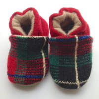 Red Holiday Cashmere Soft Shoes