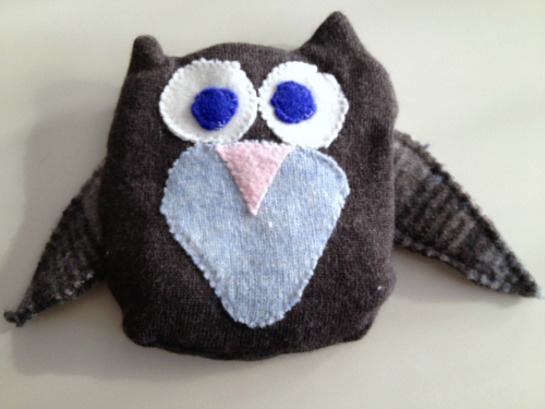 Recycled Woolly Owl