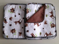 Double flannel Woodland Creatures Unpaper towels or Napkins