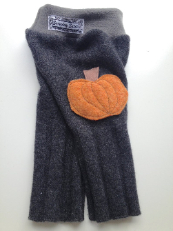 3-9 months - Small Wool Pumpkin Diaper Cover Longies - Recycled Cashmere Blend Longies
