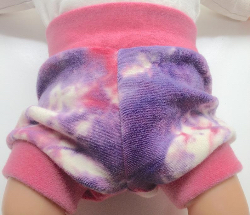 0-3+ months - Cloth diaper cover - Hand Dyed Wool Interlock Shorties Bloomers - XS