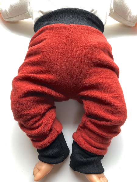 3-6 months - Fully Reversible 100% Wool Longies - Small