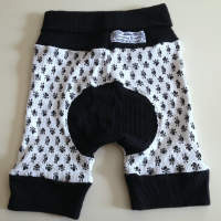 Black and White Skulls Jecaloone Shorts - Size 1+