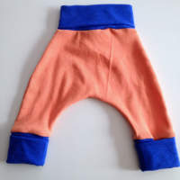 Orange and Blue Cotton Harem Pants