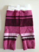 Small Pink Girly striped Recycled wool Shorties