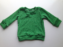 6 months - Clover Green Wool/Lycra light weight Interlock Long Sleeve top