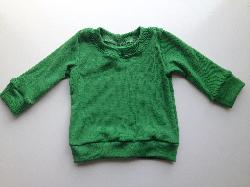 6 months - Clover Green Wool/Lycra light weight Interlock Long Sleeve top
