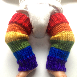 0-6 months - Acrylic Baby Leg Warmers - XS