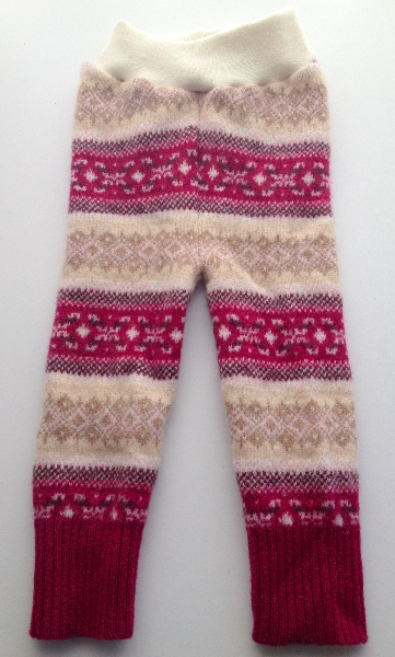 Pink Patterned Recycled Lambswool Longies