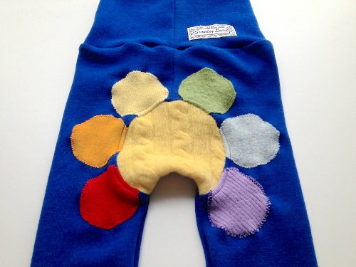 Flower Woolly Jecaloones - size 1 -- 1-3 years