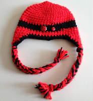 Red Ladybug Crochet Acrylic Hat