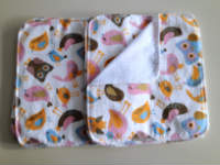 Double flannel Birds and Owls Unpaper towels or Napkins