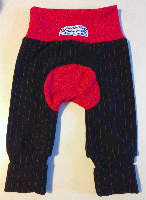 Black with Red Pin Stripes wool Jecaloones - Mini - 3-12 months