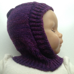 0-4 months - 100% Wool Balaclava
