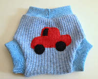 Medium Vroom! Recycled Wool Soaker with Wool Interlock