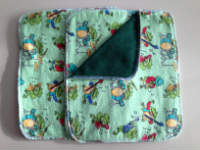 Double flannel Froggy Musicians Unpaper towels or Napkins