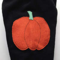 Sale - Large Black Pumpkin Longies with Interlock