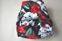 Fitted Cloth Diaper, One Size, CV/Hemp Snap in insert. Serged with Super Soft Wooly Nylon for baby