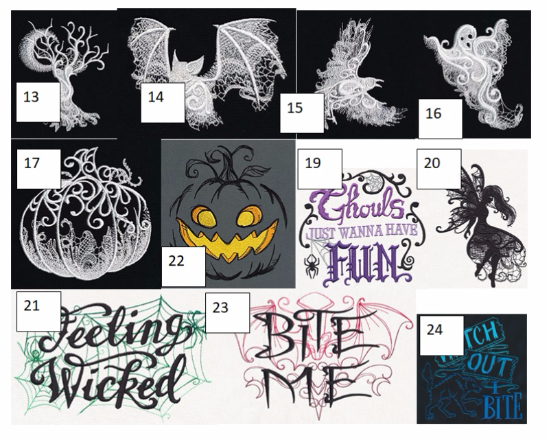 Pre Order Halloween Embroidery