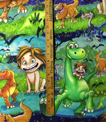 1yd cut Custom Dino Mania Fabric Large Scale
