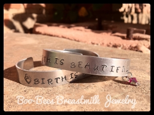 Birth is Beautiful cuff bracelet