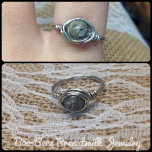 Wire Wrapped Cremation Ring