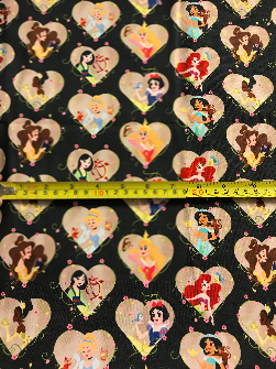2yd Cut Princess on the Run Cotton Lycra