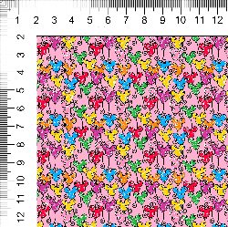 1yd cut Mini Scale Pink Looney Cotton Lycra Retail