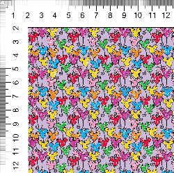 1yd cut Mini Scale Lavender Looney Cotton Lycra Retail
